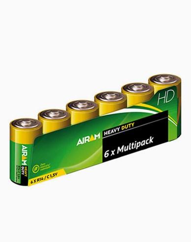 Airam Heavy Duty Plus R14 (C) 1,5V batterier 6-pakke