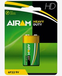 Airam Heavy Duty 6F22 9V batteri