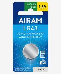 Airam LR43 (86A) 1,5V alkalisk knappebatteri