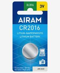 Airam CR2016 3V litium knappebatteri