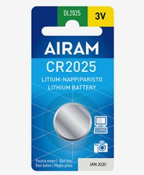 Airam CR2025 3V litium knappebatteri