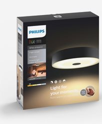 Philips Hue Fair ceiling lamp black 1x60W 230V. Inkl switch
