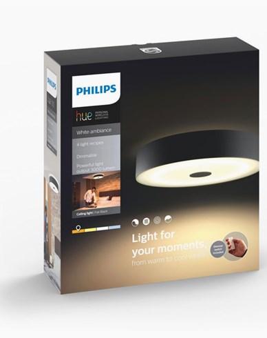Philips Hue Fair ceiling lamp black 1x60W 230V. Inkl switch
