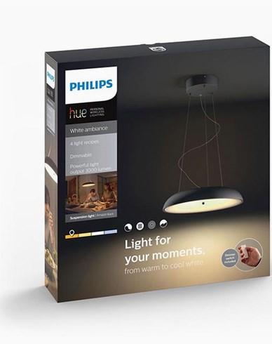 Philips Hue Amaze pendant black 1x60W 230V. Inkl switch