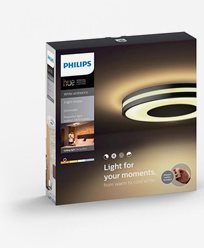 Philips Hue Being ceiling lamp black 1x40W 230V. Inkl switch