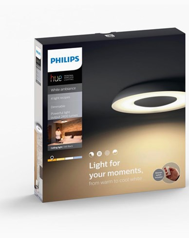 Philips Hue Still ceiling lamp black 1x40W 230V