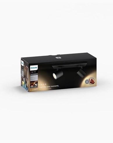 Philips Hue Runner bar/tube black inkl switch 2x5.5W 230V