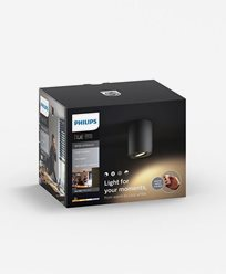 Philips Hue Pillar single spot black inkl switch 1x5.5W 230V