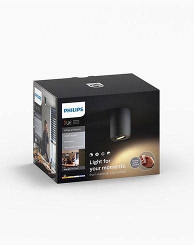 Philips Hue Pillar single spot black inkl switch 1x5.5W 230V