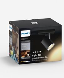 Philips Hue Runner ext. spot single spot black 1