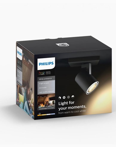 Philips Hue Runner ext. spot single spot black 2