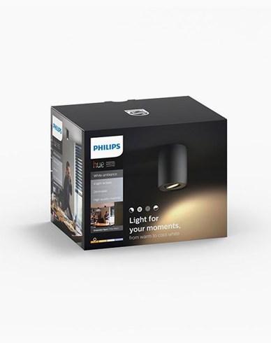 Philips Hue Pillar ext. kit single spot black 1x