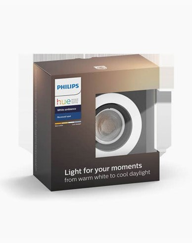 Philips Hue MILLISKIN recessed round alu 1x5.5W 230V (without remote)
