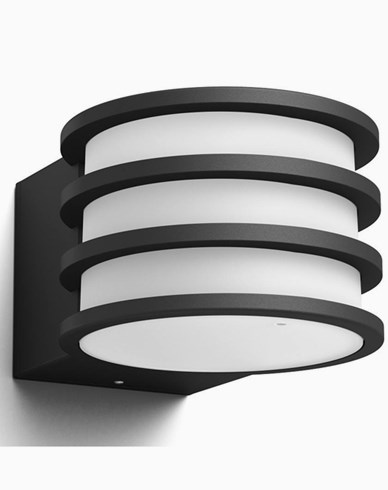 Philips Hue Lucca Utomhus vägglampa anthracite 1x9.5W 230V