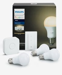 Philips Hue White (2700K) 3 bulb + switch starter kit EMEA