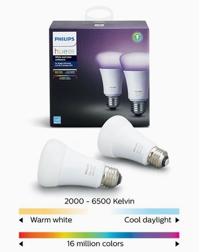 Philips Hue White and Color Ambiance A60 E27 Retail 2Pack