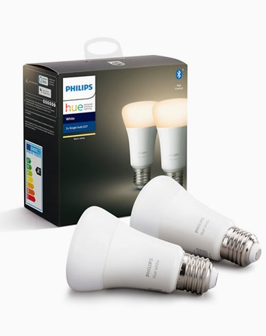 Philips Hue White A60 E27 9W 2-Pakke, bluetooth