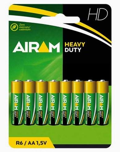 Airam Heavy Duty Plus R6 (AA) 1,5V batterier 8-pakke