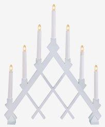 Star Trading Hvit tre-lysestake Rut med rutemønster
