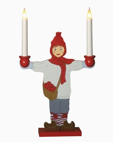 Star Trading Träljusstake Sundborn, pojke. 2 LED-lampor