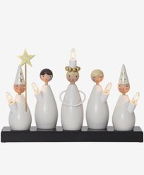 Star Trading Ljusstake Luciakör vit inkl glödlampor