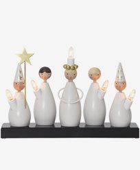 Star Trading lysestake Lucia kor hvit. inkl. glødepærer