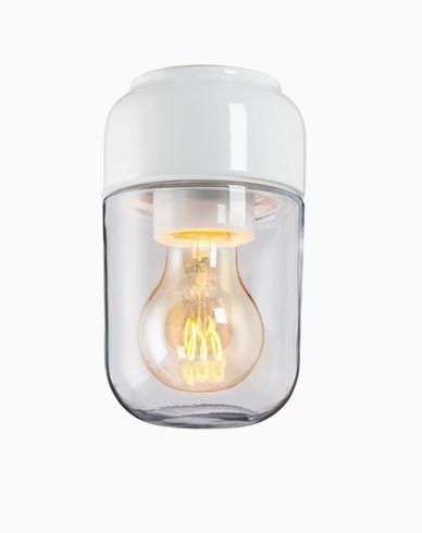 Ifö Electric Ohm 100 bastu höjd 170 mm vit klarglas IP44 E27 40W tak-/väggmontage
