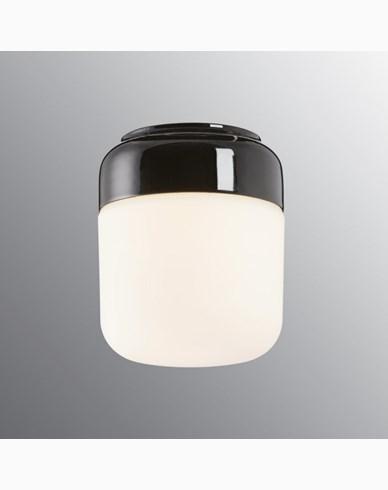 Ohm 140x170 mm svart matt opal IP44 LED 10W/3000 960lm