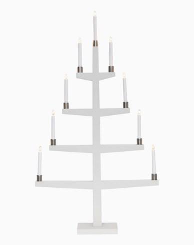 Star Trading TALL, vit träljusstake inkl 9 lampor