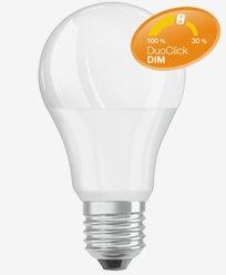 Osram LED-pære Duo Click Dim 8,5W E27