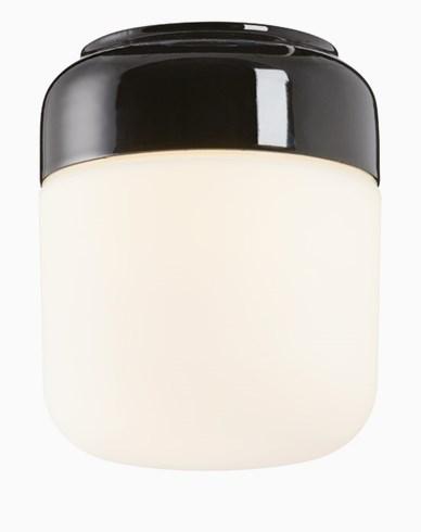 Ohm 140 höjd 170 mm matt opalglas svart E27 40W
