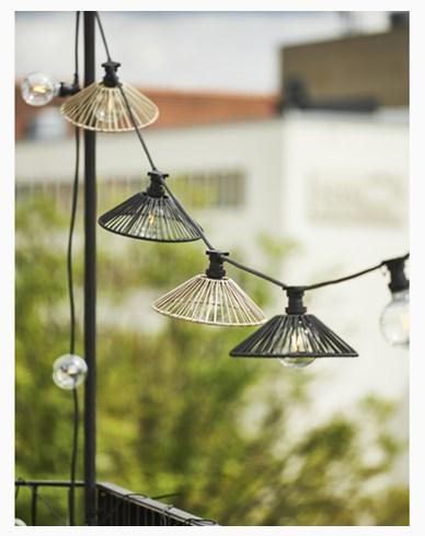 Star Trading lampeskjerm Wide svart 38cm