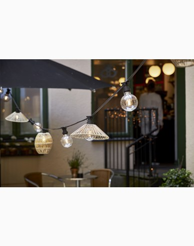 Star Trading lampskärm Vide gråbeige 25cm