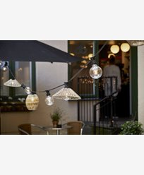 Star Trading lampeskjerm Wide grå beige 38cm