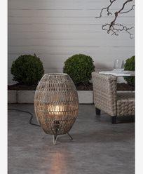 Star Trading Lampeskjerm Linde gråbeige 30x46cm