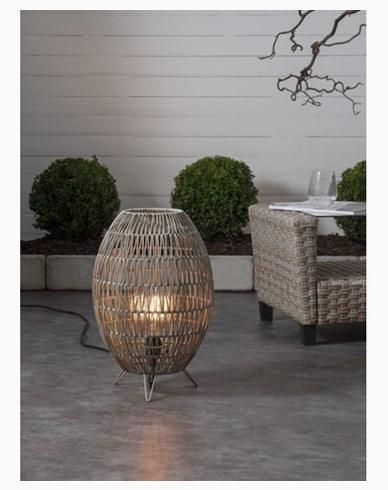 Star Trading Lampskärm Linde gråbeige 30x46cm