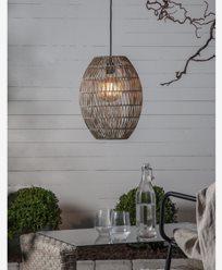 Star Trading lampeskjerm Linde gråbeige 30x40cm