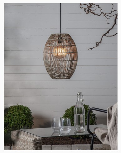 Star Trading Lampskärm Linde gråbeige 30x40cm