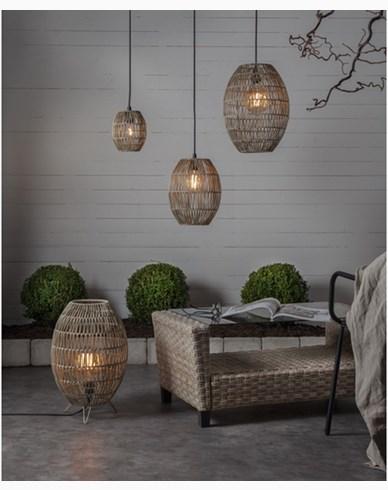 Star Trading Lampskärm Linde gråbeige 24x30cm
