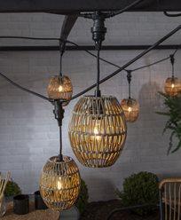 Star Trading Lampskärm Linde, beige Ø 18cm