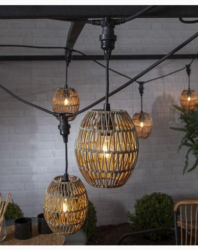 Star Trading lampeskjerm Linde, beige Ø 18cm