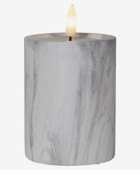 Star Trading LED Blokklys Flamme Marble 12,5cm