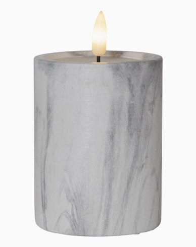 Star Trading LED Blockljus Flamme Marble 12,5cm
