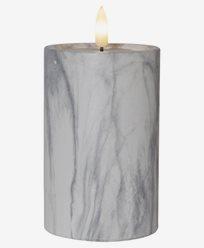 Star Trading LED Blokklys Flamme Marble 15cm