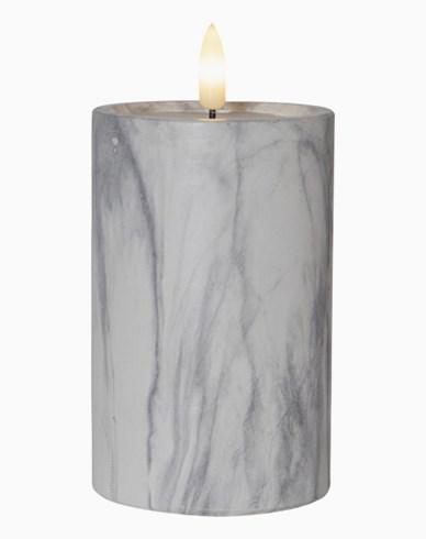 Star Trading LED Blockljus Flamme Marble 15cm