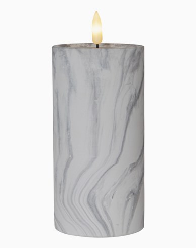 Star Trading LED Blokklys Flamme Marble 17,5cm