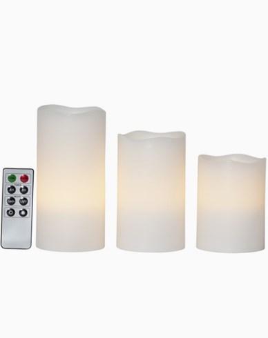 Star Trading LED Blockljus 3-pack May 15cm