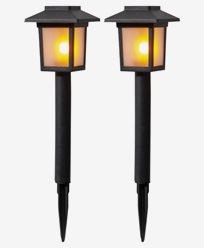 Star Trading Solcelle-sokkellampe 2-p Flame Mini