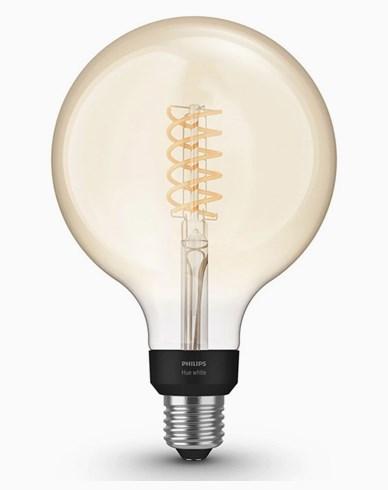 Philips Hue White Filament G125 Globe E27 2100K