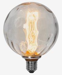 Star Trading LED-lampa E27 G125 Bubble glass, 1W/2000K
